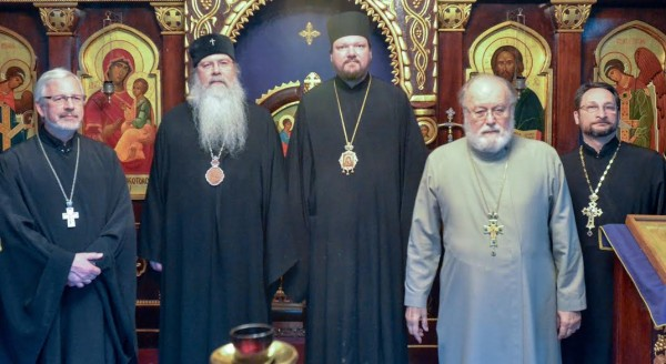 Bishop John of Naro-Fominsk visits OCA Chancery