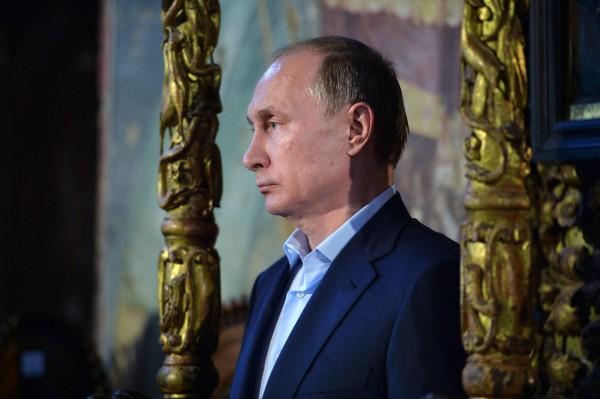 Photo: SPUTNIK/ ALEXEI DRUZHININ May 28, 2016. Russian President Vladimir Putin visits Mount Athos