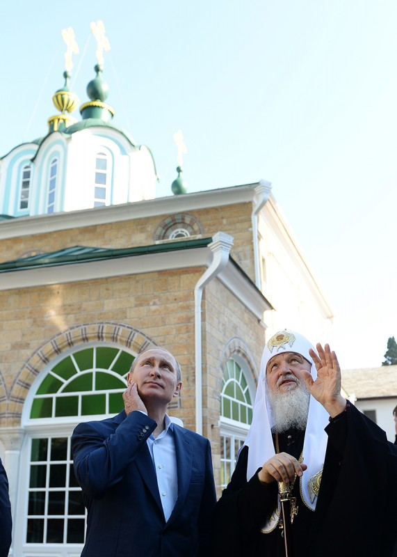 Putin and Patriarch Kirill chair celebrations of the 1000-year anniversary of Russian presence on Athos