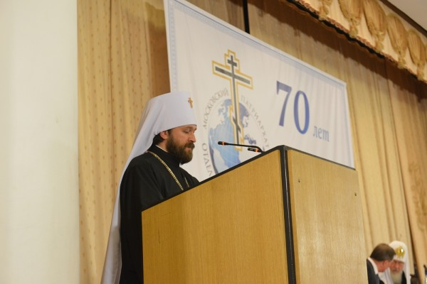 Metropolitan Hilarion: Contradictions between the Orthodox Church and the Protestant communities that distort the doctrine to accommodate modern secular standards are intensifying