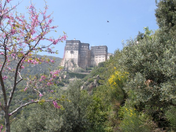 Photo: The Monastery of Simonopetra on Mount Athos