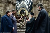Archbishop Demetrios Visits Fire Ravaged St. Sava Cathedral
