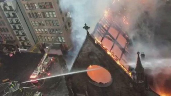 Easter fire in Serbian church in NYC caused by candles