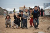 Syrian Christians march for peace on International Children's Day