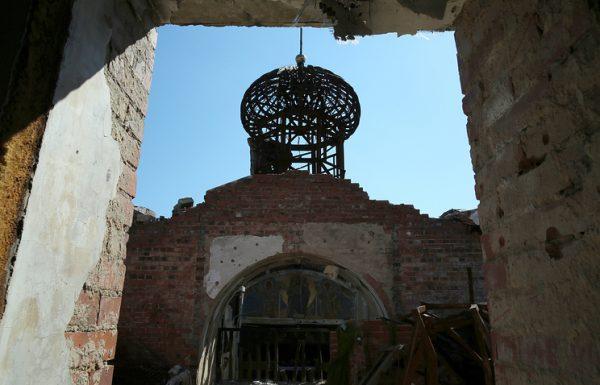 Orthodox Christian church in Ukraine's Gorlovka damaged in shellings