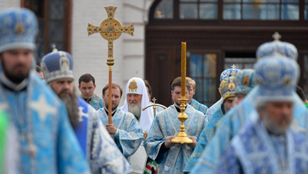 Cross procession led by Patriarch Kirill was going on in Kazan