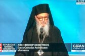 Archbishop Demetrios delivers benediction at Republican National Convention