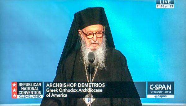 Archbishop Demetrios delivers benediction at Republican National Convention