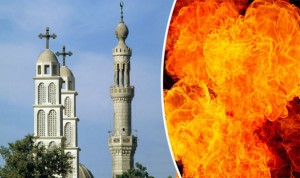Hundreds of Muslims burn down Christian…