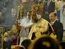Coptic Pope Prays in Ancient Church…