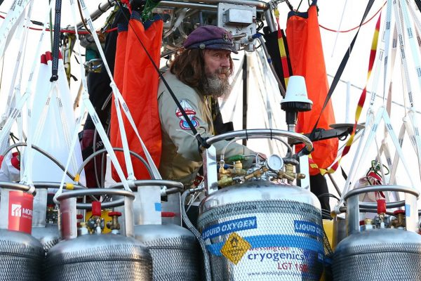 Fedor Konyukhov prepares for lift off (Paul Kane/ Getty Images)