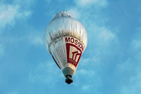 The balloon of Russian adventurer Fedor Konyukhov is seen after lift off (Oscar Konyukhov/ Reuters)