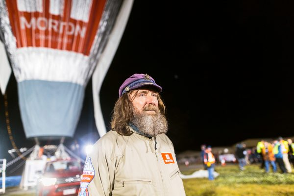 ussian adventurer Fedor Konyukhov watches his hot air balloon inflate (Oscar Konyukhov/ Reuters)