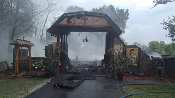 Fire destroys church at Ascension Monastery, Clinton, MI