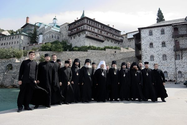 A delegation of the Russian Orthodox Church visits Holy Mount Athos