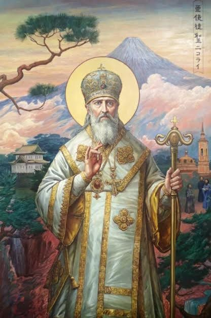 Relics of St. Nicholas of Japan placed in St. Tikhon's Monastery, St. Sergius Chapel