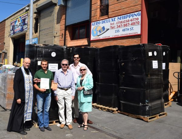 Orthodox believers of New York send a container with humanitarian aid to Donbass