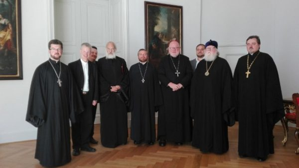 Archbishop Feofan of Berlin and Germany meets with President of German Catholic Bishops' conference Cardinal Reinhard Marx