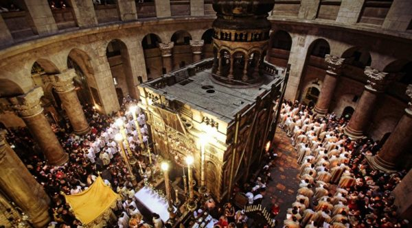 Exposing of the Lord's Sepulchre is not significant from religious point, Orthodox and Catholics believe