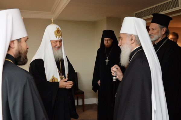 Patriarch Kirill meets with Patriarch Irenaeus of Serbia in London