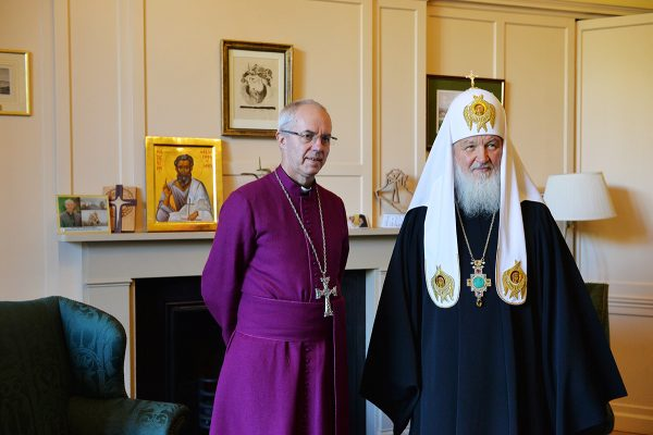Patriarch Kirill, Archbishop of Canterbury express readiness for joint peacekeeping work