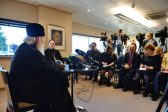 In conclusion of his visit Primate of Russian Orthodox Church answered questions from Russian and foreign mass media reporters