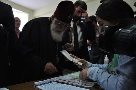 Election Day: Patriarch Ilia II votes, urges public to have their say