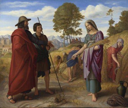 Julius Schnorr von Carolsfeld. Ruth in Boaz's Field