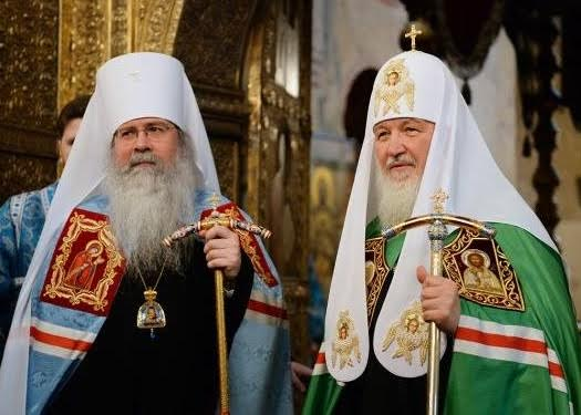Patriarch Kirill Greets Metropolitan Tikhon with Anniversary of His Enthronement