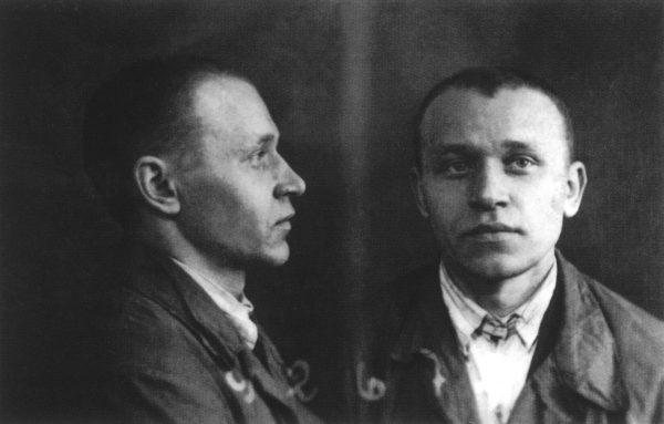 Photo: Mikhail Vasilievich Gundiaev, Patriarch Kirill's father.  Prison photo. 1934