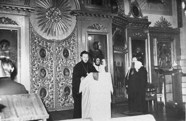 In the church of St. John the Theologian of the Leningrad Theological Academy. The 1970s.