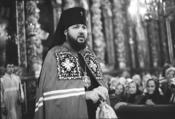 Delivering a sermon in the Smolensk cathedral, the 1980s.