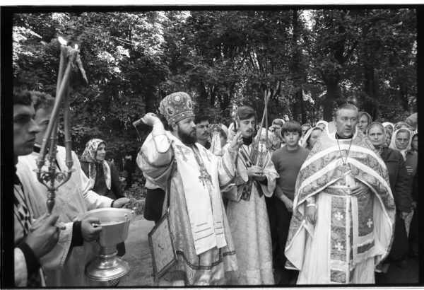 A service in the church of the Transfiguration of Our Lord in Smolensk. August 29, 1985.