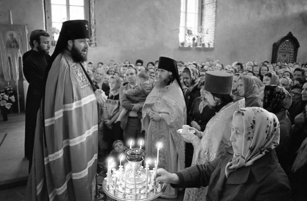 Blessing of the church of St. Nicholas in Kaliningrad. May 22, 1987
