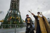 Soyuz Rocket Blessed Before Launch, Cygnus Prepped for Departure