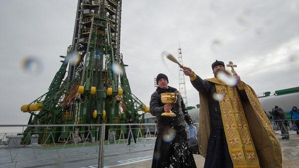 Soyuz Rocket Blessed Before Launch, Cygnus Prepped for Departure