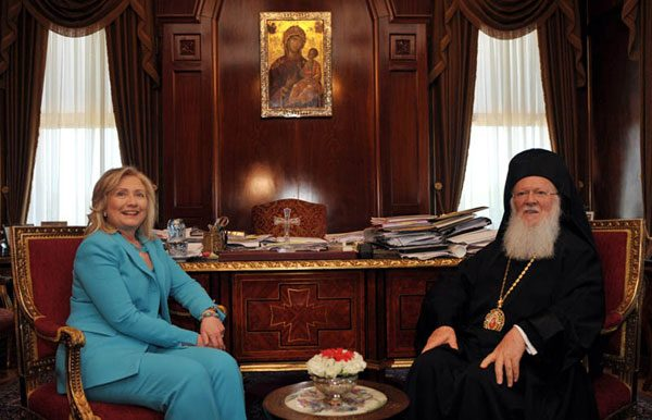 Hillary Clinton Statement on Ecumenical Patriarch Bartholomew's 25th Anniversary as Head of the Eastern Orthodox Church
