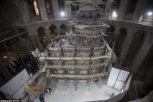 Engineers Work to Restore Jesus' Burial Shrine in Jerusalem