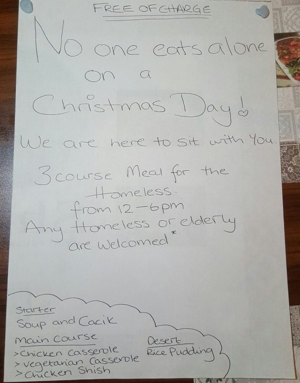 Muslim-owned restaurant to give out free meals on Christmas