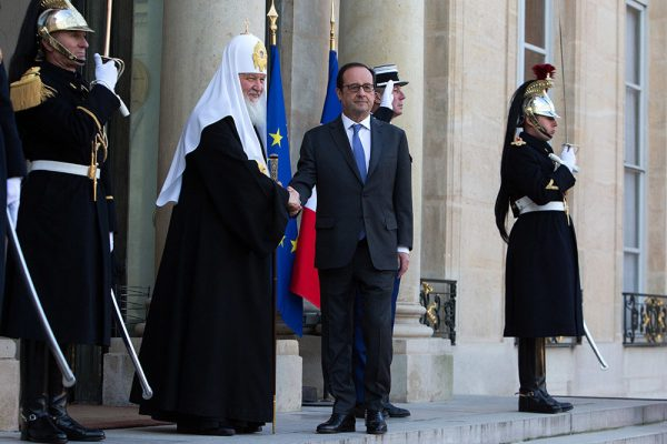 Patriarch Kirill meets with French president
