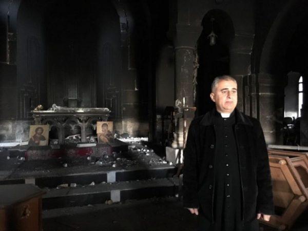 Father Benham in his church in Bartella. Samaritan's Purse