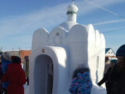 Good Samaritan Builds a Church Out of Snow for Residents of a Small Villag