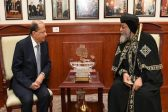 Egypt model of religious moderation and coexistence, Lebanon's Aoun tells Pope Tawadros II