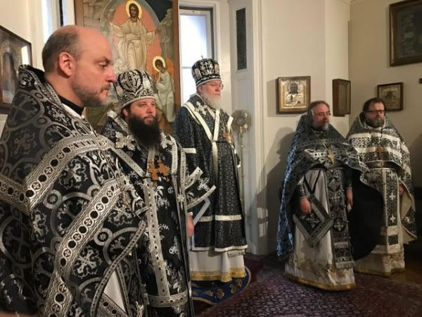 Metropolitan Hilarion of Eastern America and New York Celebrates the First Liturgy of Pre-Sanctified Gifts of the Year