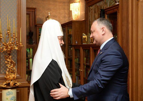 Patriarch Kirill meets with Moldova's President Igor Dodon