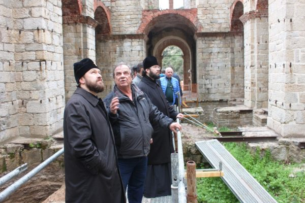 Metropolitan Hilarion on Holy Mount Athos. Photo: https://mospat.ru/