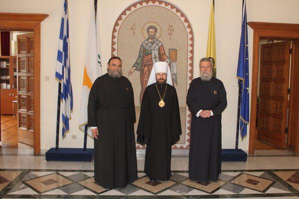 Metropolitan Hilarion meets with Archbishop Chrysostomos of Cyprus