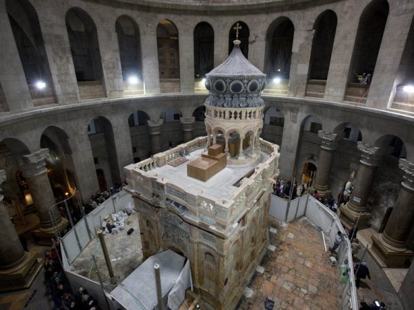 Restoration work completed on site of Jesus's tomb in Jerusalem