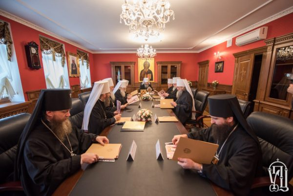 Synod of the Ukrainian Orthodox Church Holds Its Session