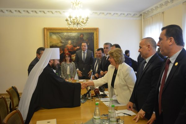Metropolitan Hilarion of Volokolamsk meets with speaker of People's Council of Syria